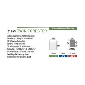High Peak Twin Forester - Sac de couchage - gauche bleu